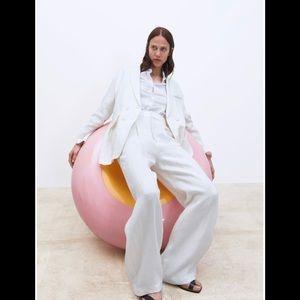 Zara Beautiful Linen Blazer